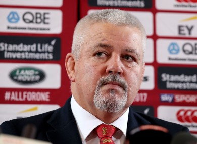 Head Coach Warren Gatland at the British and Irish Lions Player Administration Day, Syon House.