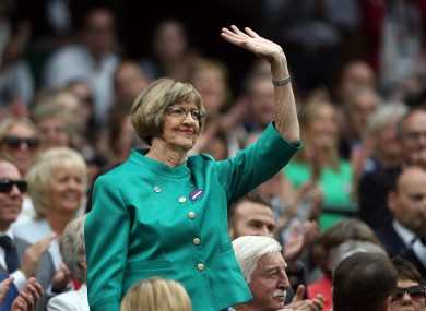 Margaret Court (file pic).