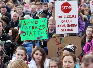 A 2013 protest against the closure.