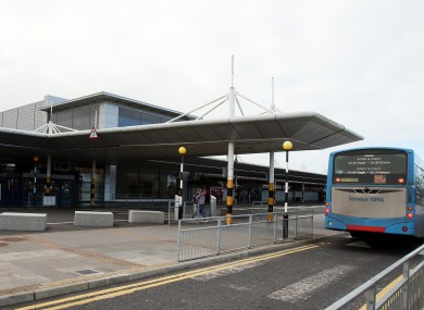 File photo of the entrance to Belfast International Airport in 2012.