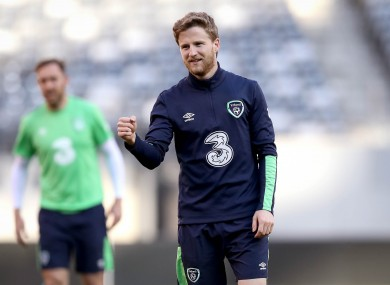 Eunan O'Kane pictured during Ireland training.