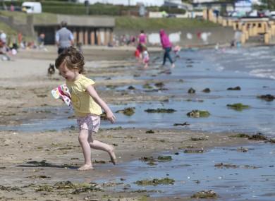 Katy O'Reilly on holiday from Birmingham on Portmarnock beach last month.