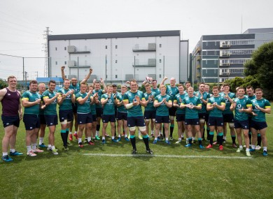 Ireland players send a good luck message to Peter O'Mahony after he was announced as the Lions captain for the first test against New Zealand.