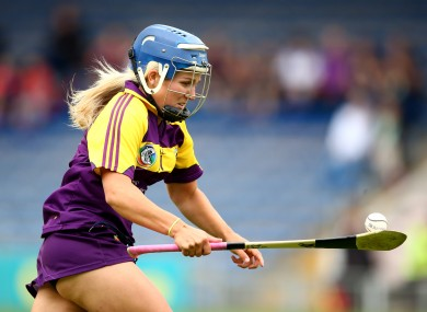 Katrina Parrock in action during last year's Liberty Insurance Senior Camogie Championship.