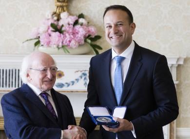 President Michael D Higgins and Taoiseach Leo Varadkar