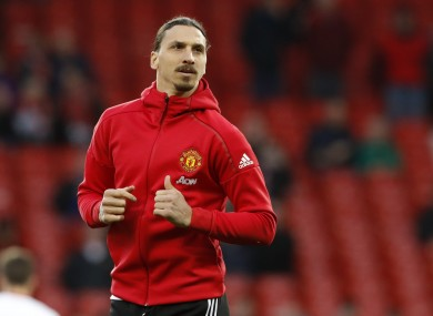 The Swedish striker spent just one year at Old Trafford.