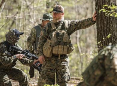 Militia leader Chris Hill