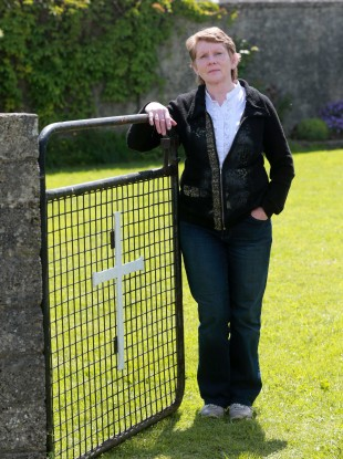 Local historian Catherine Corless at the site in Tuam
