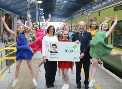 Ross and Graham at the announcement today, with Irish Youth Dance Festival performers