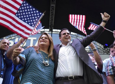 Congresswoman Jennifer Gonzalez and Governor Ricardo Rossello celebrate the results