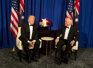 US President Donald Trump with Australian Prime Minister Malcom Turnbull.