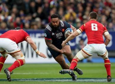 Uini Atonio was replaced during the closing stages of the dramatic Six Nations game.