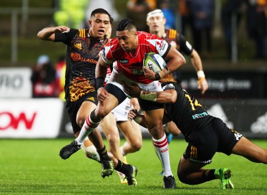 Tupou in action for his club.