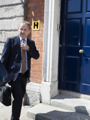 Garda whistleblower Sergeant Maurice McCabe arriving at the tribunal today.