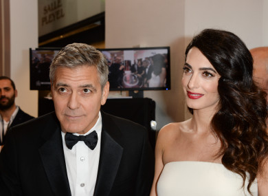 George Clooney and his wife, Amal.