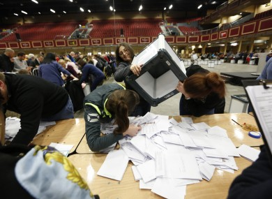 Counting of votes in the 2016 general election.