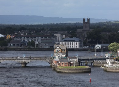 Limerick City looking towards St. Marys Cathedral