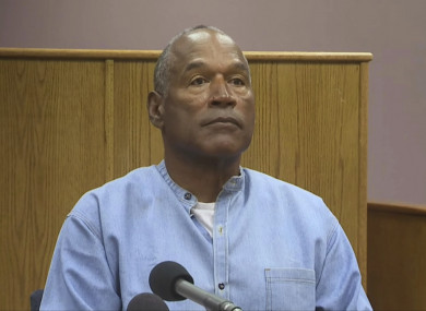 Simpson spoke at today's parole hearing,