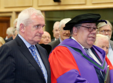 Two former Taoisigh - Bertie Ahern and Brian Cowen