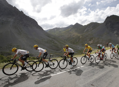 Froome, in yellow, added another nine seconds to his GC lead on Wednesday.