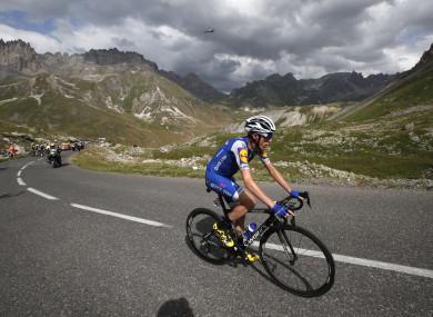 Martin: GC hopes dented by a bad crash on stage nine.