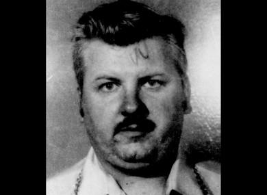1978 file photo of serial killer John Wayne Gacy.