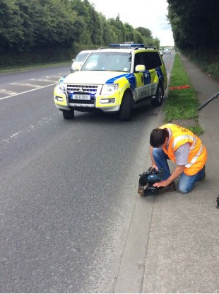 Gardaí carried out the checkpoint on the N32 near Dublin Airport this afternoon.
