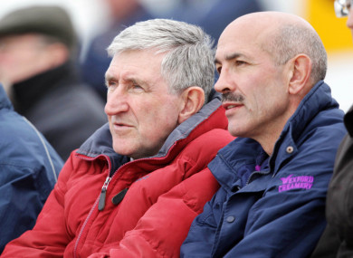 Former Wexford manager Liam Griffin and captain George O'Connor (file pic).