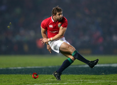 Halfpenny in action with the Lions this summer.