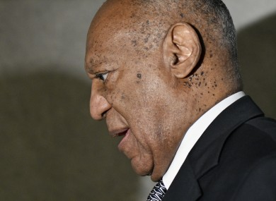 Bill Cosby departs Montgomery Courthouse in June as jury deliberations were ongoing.