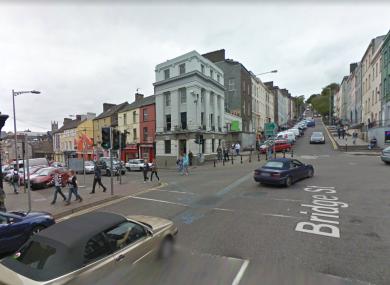 The corner of Bridge Street and Coburg Street in Cork city.
