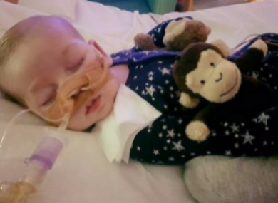 Ten-month-old baby Charlie Gard.