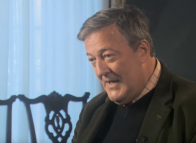 A complaint was made against comedian Stephen Fry for remarks in a 2015 interview with Gay Byrne.