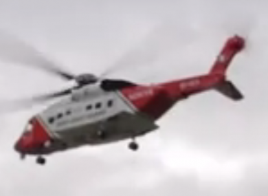 The man was airlifted in the early hours of this morning.