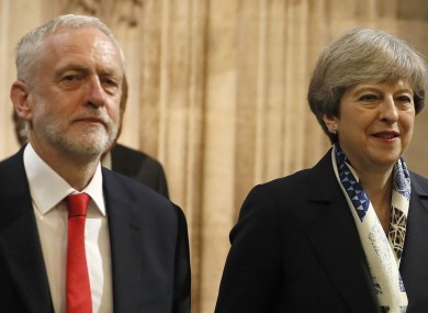 Labour leader Jeremy Corbyn  and Prime Minister Theresa May.