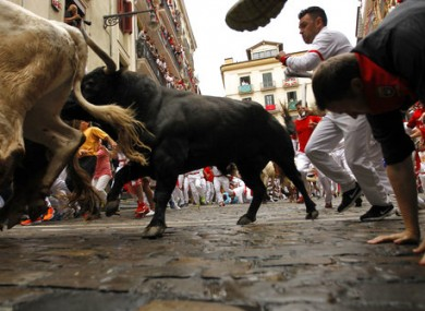 Hundreds flock to Pamplona for the San Fermin festival every year