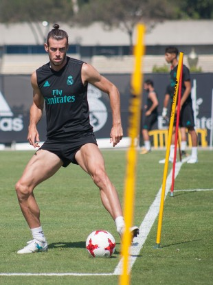 Bale has returned to training with Real Madrid in LA.
