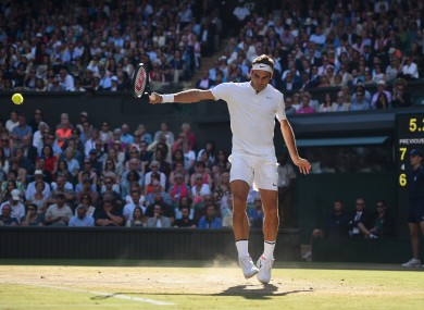 Federer will take to Centre Court once again this afternoon.