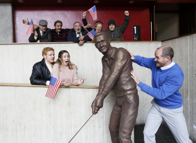 The cast of A Statue For Bill Clinton.