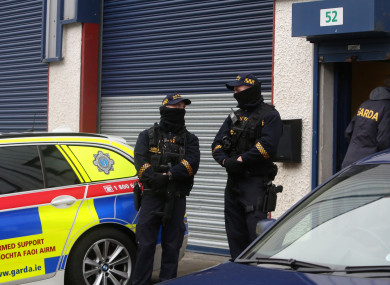 Stock photo of Garda Armed Response Unit.