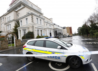 Pictured is the Regency Hotel where David Byrne was killed in February last year.