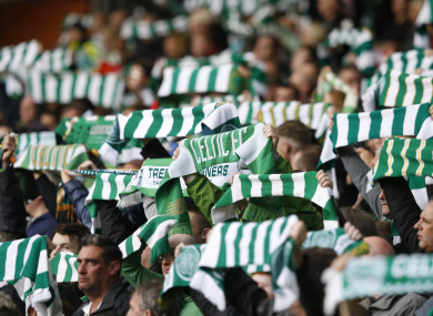 Celtic fans (file pic).