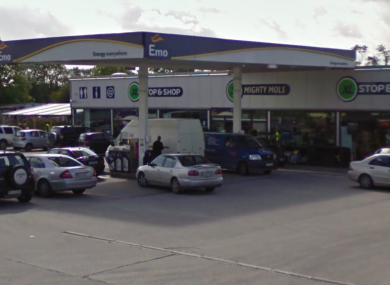 The Emo service station where the robbery happened.
