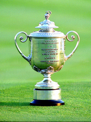 The PGA Championship trophy (file pic).