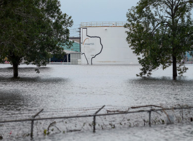 The Arkema Inc chemical plant is flooded from Hurricane Harvey.