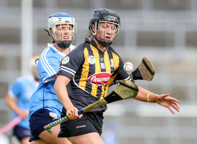 Julieann Malone tries to evade Dublin's Eimear Mc Carthy.