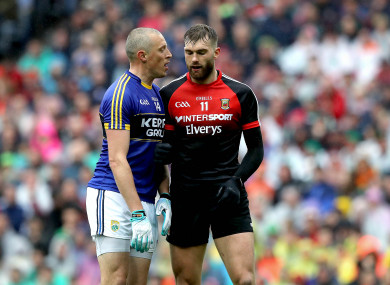 Donaghy and O'Shea at Croke Park last weekend.