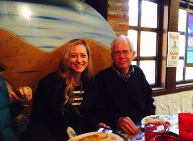 Molly Corbett and her father Thomas Martens