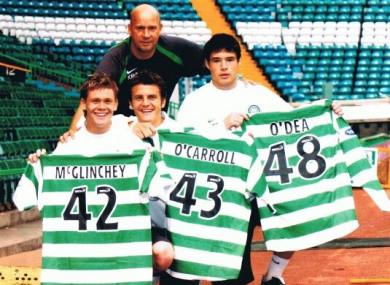 O'Carroll alongside O'Dea and Michael McGlinchey at Celtic.