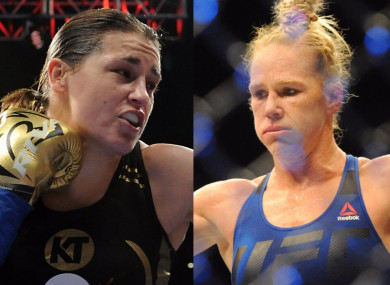 Taylor and Holm: UFC star had 33-2-3 record as pro boxer.
